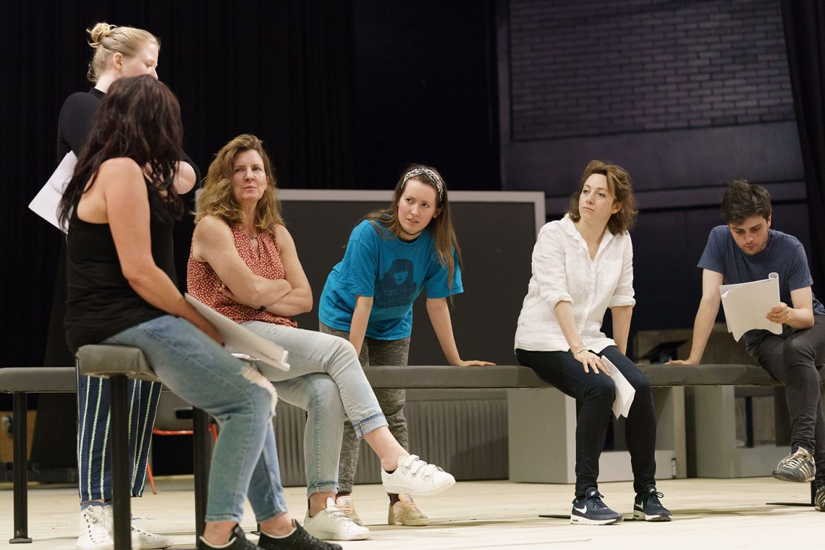 The Divide l-r Finty Williams, Clare Burt, Joanne McGuinness, Clare Lawrence Moody, Martin Quinn