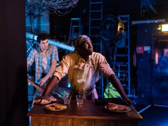 Backstage image of The American Clock