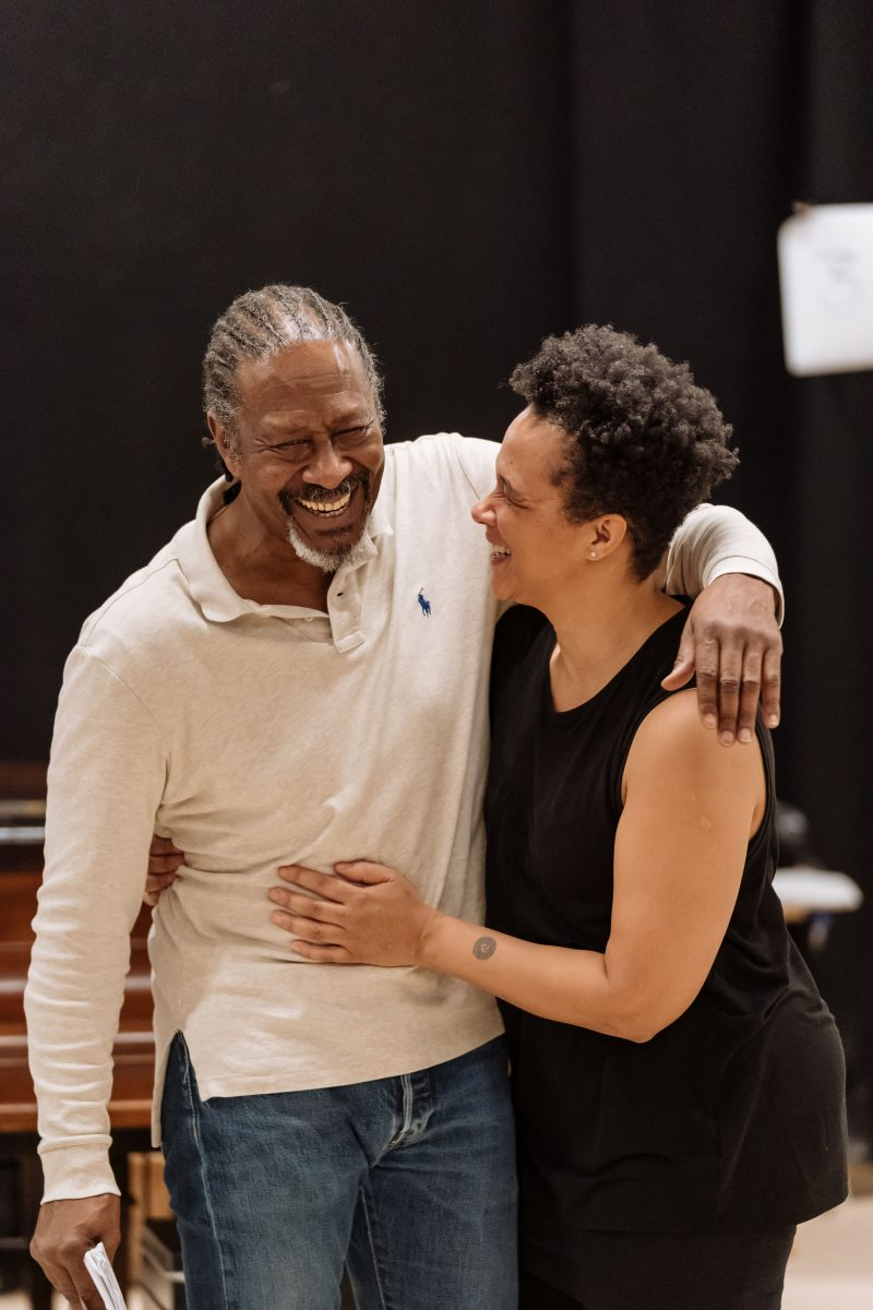 Clarke Peters and Golda Rosheuvel in rehearsals for The American Clock