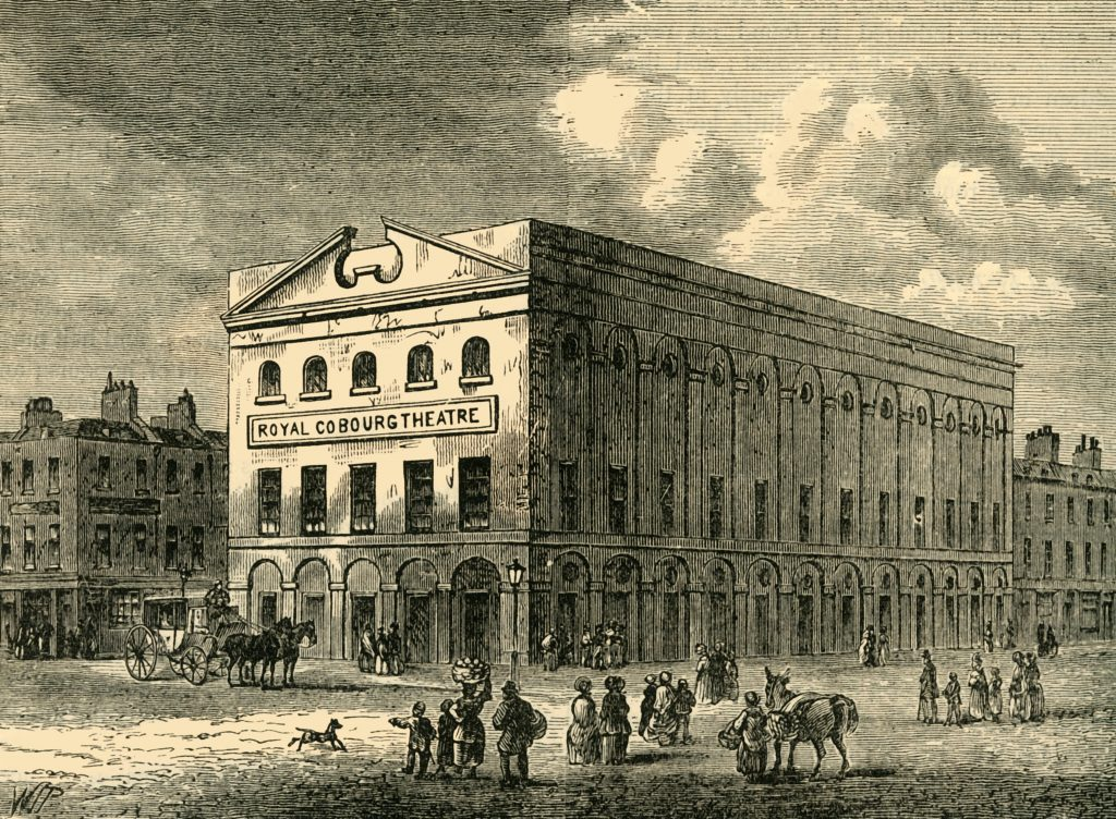 R0R35E 'The Old Coburg Theatre in 1820', (c1878). Creator: Unknown.
