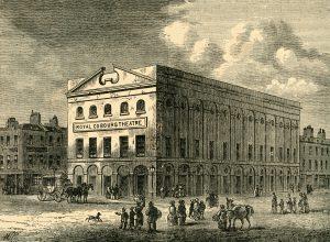 R0R35E 'The Old Coburg Theatre in 1820', (c1878). Creator: Unknown.